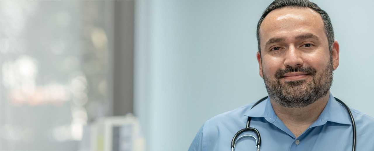 Doctor wearing stethoscope